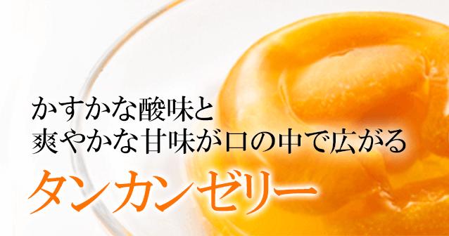 かすかな酸味と爽やかな甘味が口の中で広がるタンカンゼリー