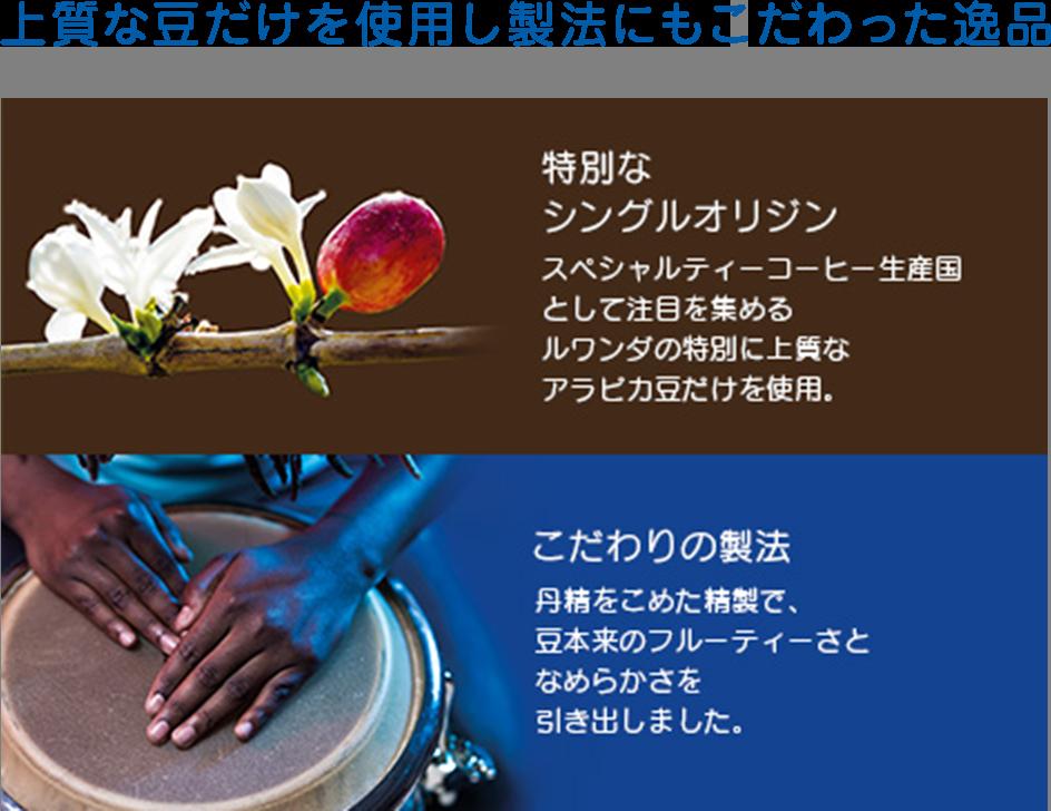 上質な豆だけを使用し製法にもこだわった逸品