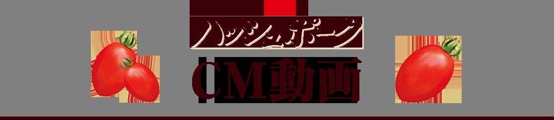 「まるごと濃熟トマトのハッシュポーク」CM動画