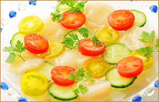 ほたてとトマトのサラダ