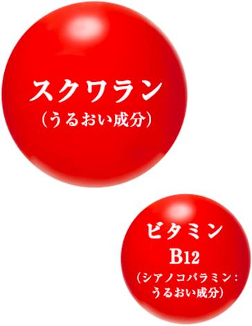 スクワラン(うるおい成分) ビタミンB12(シアノ コバラミン:うるおい成分)