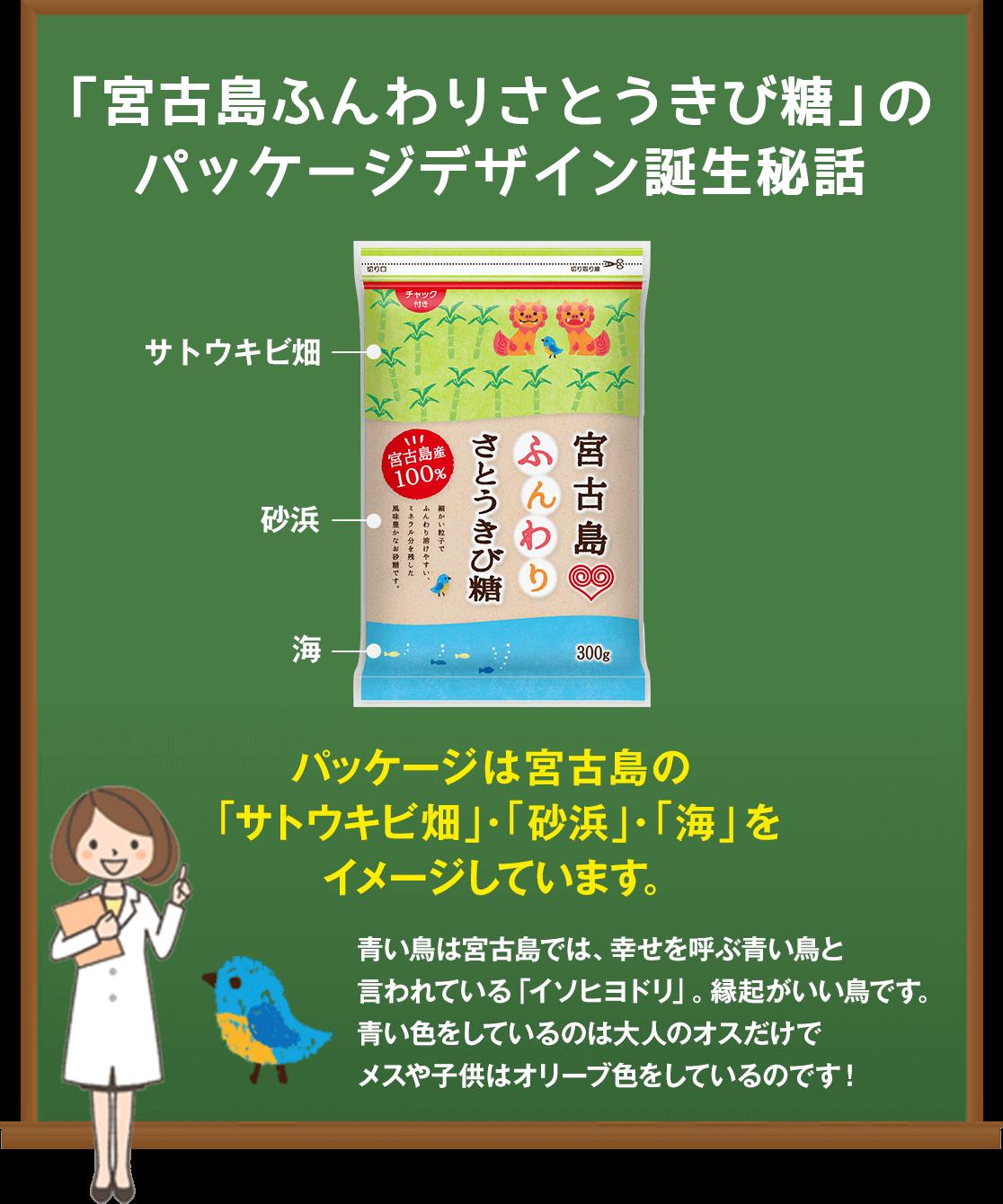 「宮古島ふんわりさとうきび糖」のパッケージデザイン誕生秘話