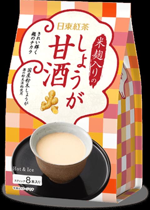 米糀入りのしょうが甘酒