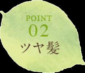 POINT02 ツヤ髪