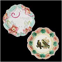 紙皿/フラワー &鳥
