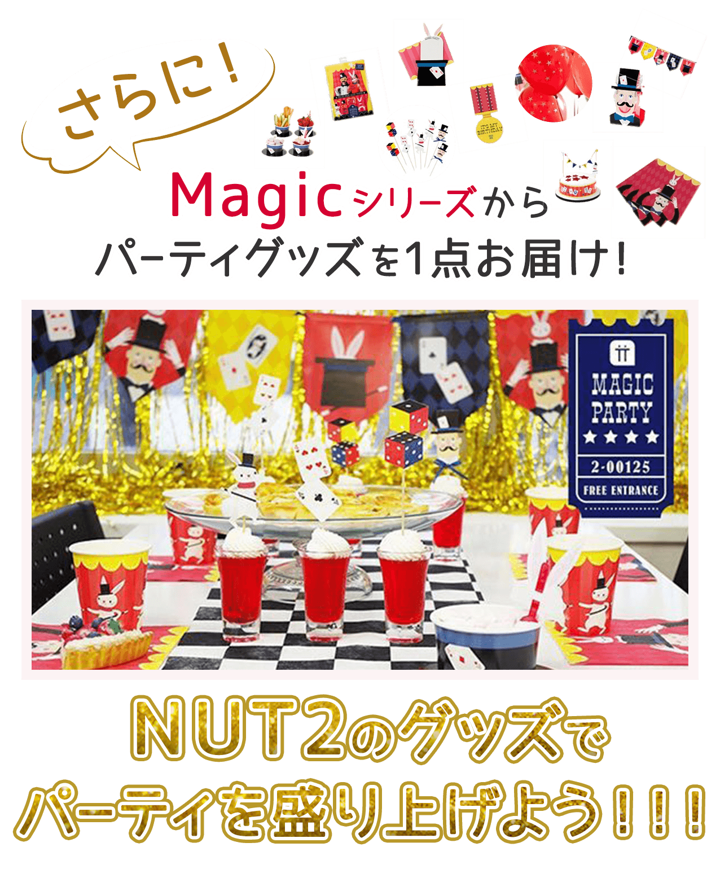 さらに!Magicシリーズからパーティグッズを1点お届け!NUT2のグッズでパーティを盛り上げよう!!!