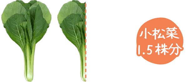 小松菜 1.5株分