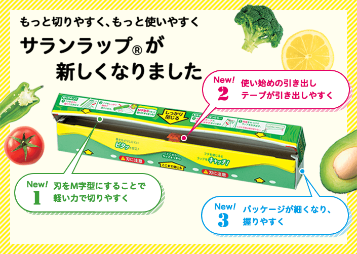 もっと切りやすく、もっと使いやすく サランラップ®が新しくなりました