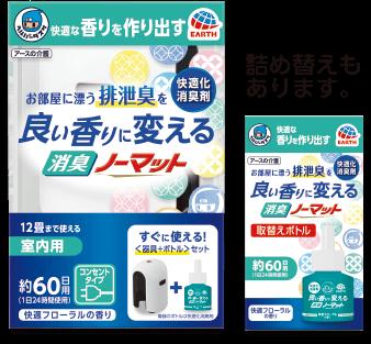ヘルパータスケ 良い香りに変える 消臭ノーマット 快適フローラルの香り 器具+ボトル