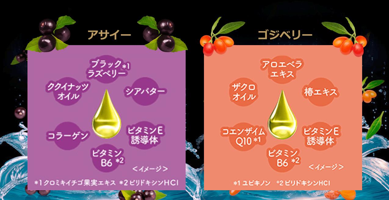 6種類の美容成分(保湿成分)を配合したこだわりの処方。