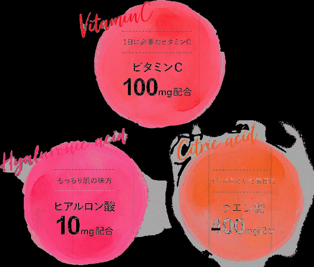 ビタミンC ヒアルロン酸 クエン酸