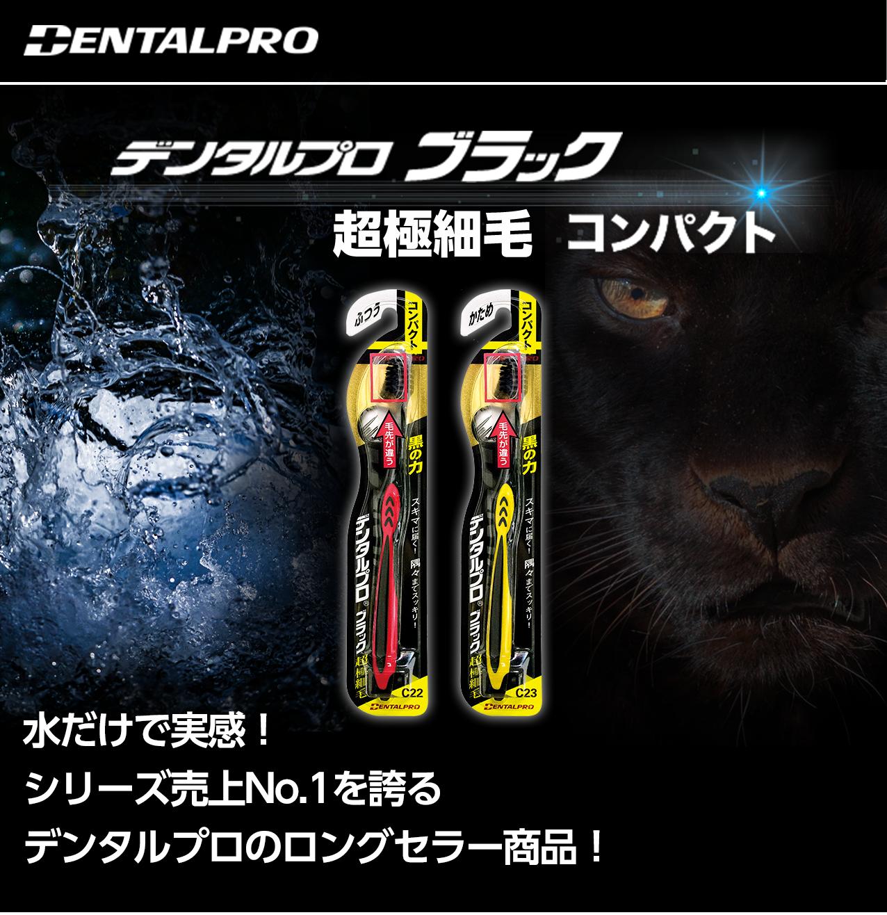 デンタルプロ ブラック コンパクト 水だけで実感!シリーズ売上No.1を誇る デンタルプロのロングセラー商品!