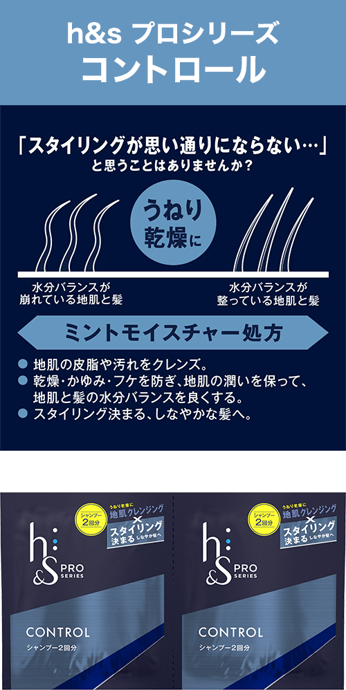 h&s プロシリーズ コントロール