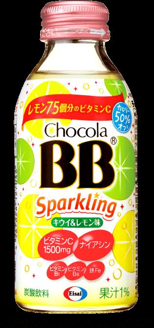 チョコラBBスパークリング キウイ&レモン味 商品イメージ