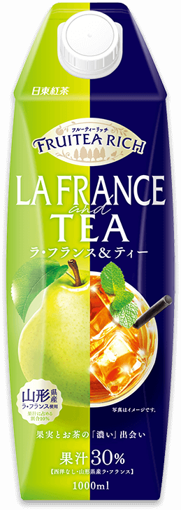 「日東紅茶 フルーティーリッチ ラ・フランス&ティー 1L」商品イメージ