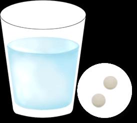 お水とCo・Riナックス2錠 イメージ