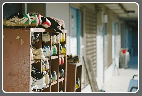 部活の靴箱イメージ