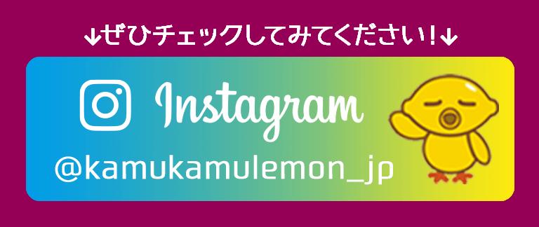 Instagram @kamukamulemon_jp ぜひチェックしてみてください!