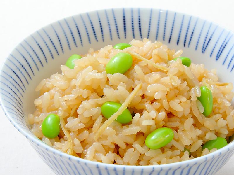 「枝豆と生姜の炊き込みご飯」イメージ