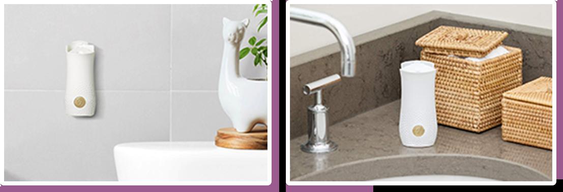 トイレや洗面台に設置イメージ