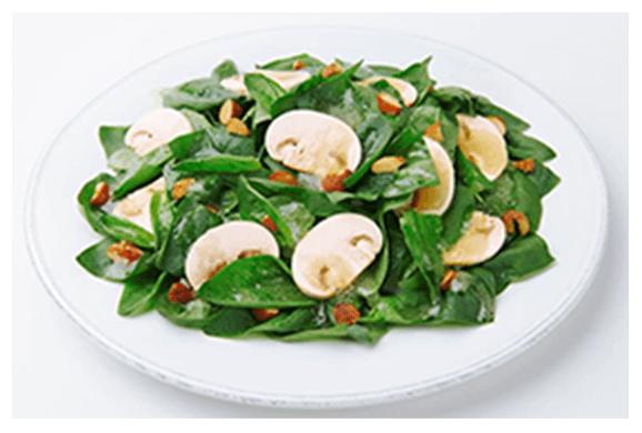 サラダほうれん草とマッシュルームのサラダ イメージ画像