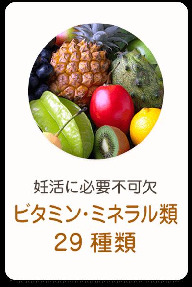 ビタミン・ミネラル類29種類