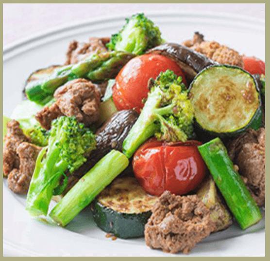 ロースト野菜と 大豆のお肉のお食事サラダ イメージ画像