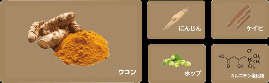 ウコンなどの4種の生薬