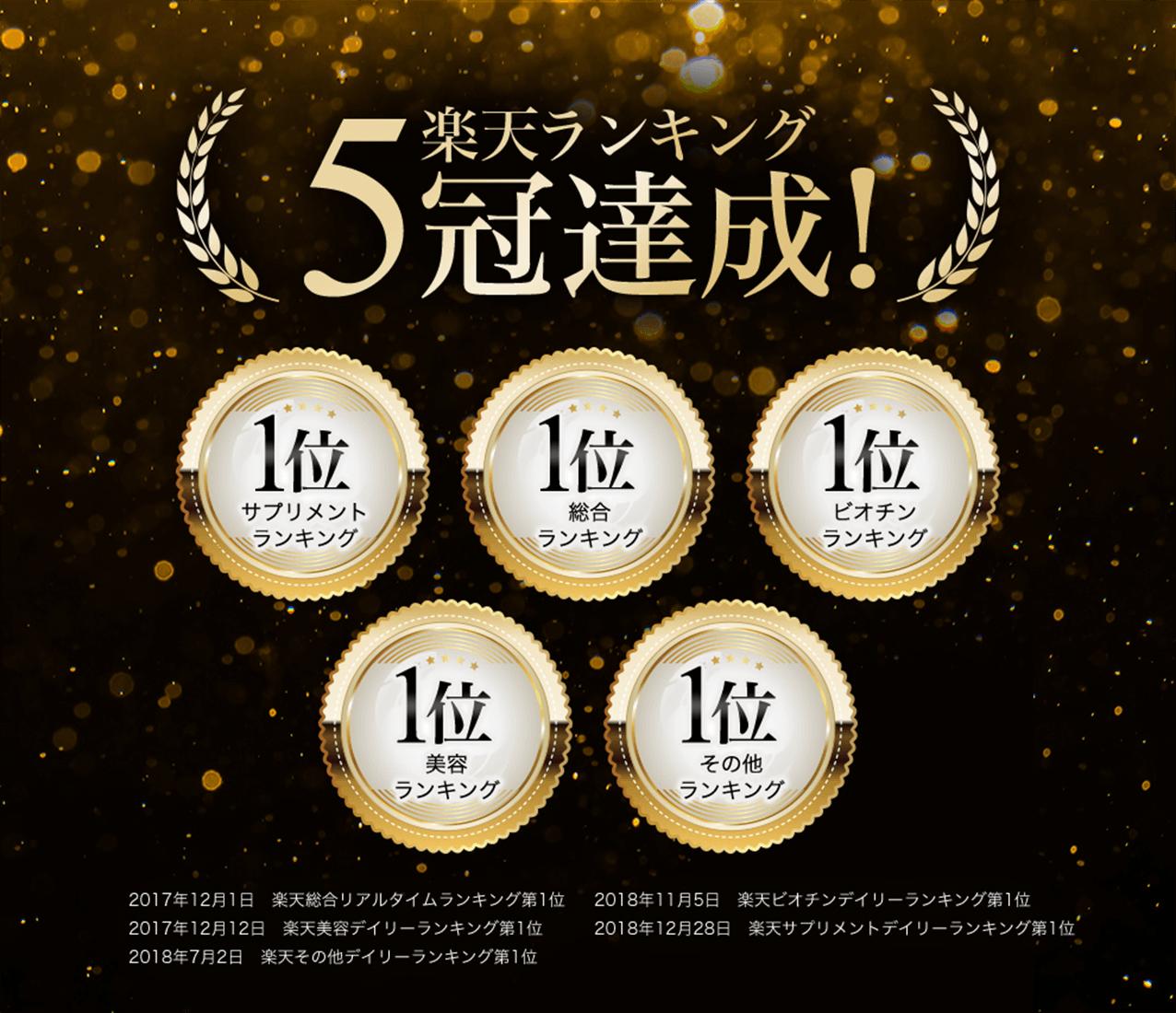 楽天ランキング5冠達成!