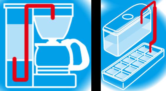 コーヒーメーカー、冷蔵庫の自動製氷機 イメージ