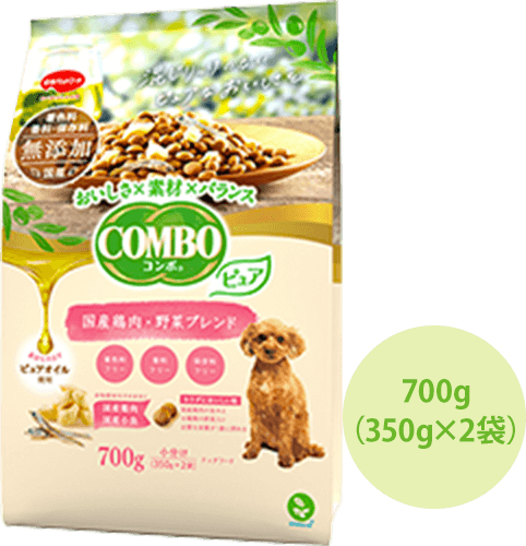 コンボ ドッグ ピュア 国産鶏肉・野菜ブレンド 商品イメージ