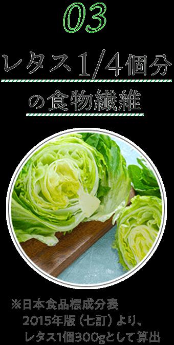レタス1/4個分の食物繊維