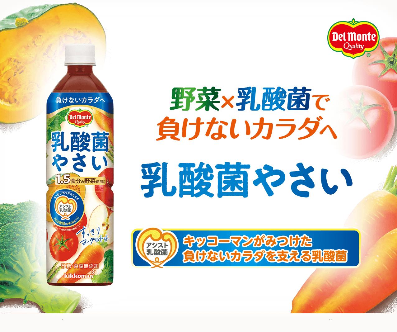 野菜×乳酸菌で負けないカラダへ 乳酸菌やさい