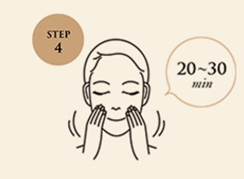 20〜30分間たってからマスクをはがし、そのあとお肌に残ったジュレをよくなじませてください。