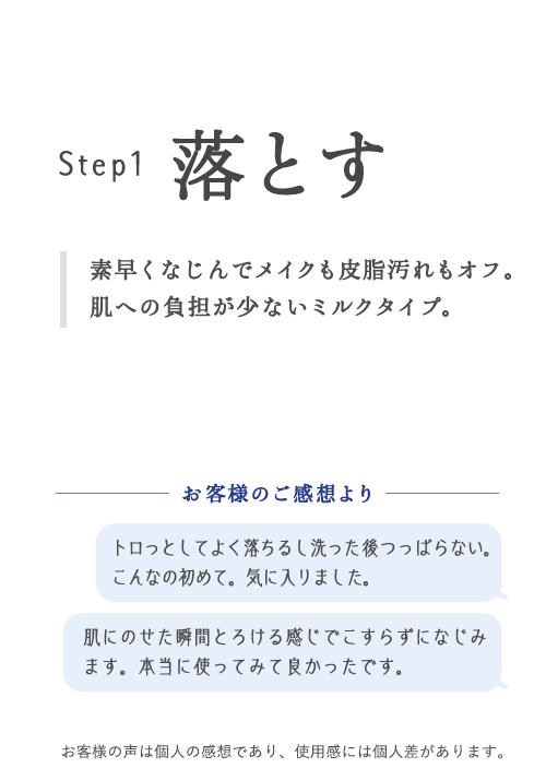 Step1 落とす