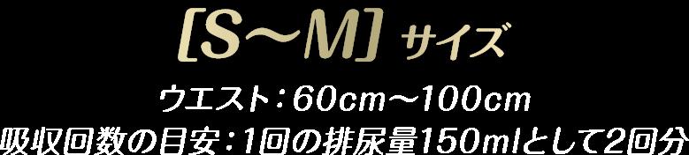 [S〜M]ウエスト:60cm〜100cm 吸収回数の目安:1回の排尿量150mlとして2回分 ウィスパーうすさらシルキー イメージ