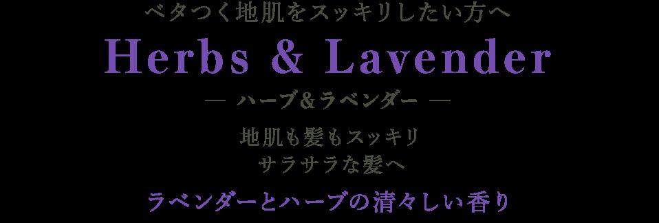 ベタつく地肌をスッキリしたい方へ Herbs & Lavender ─ ハーブ&ラベンダー ─ 地肌も髪もスッキリサラサラな髪へ ラベンダーとハーブの清々しい香り