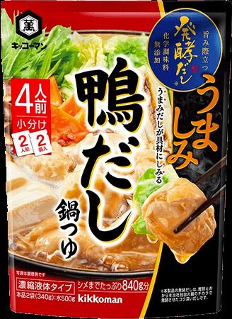 キッコーマン 発酵だし 鴨だしつゆ 商品イメージ
