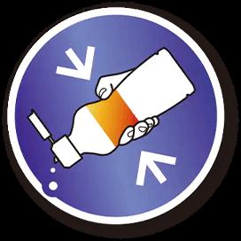 使いやすい「くびれプッシュボトル」入り イメージ
