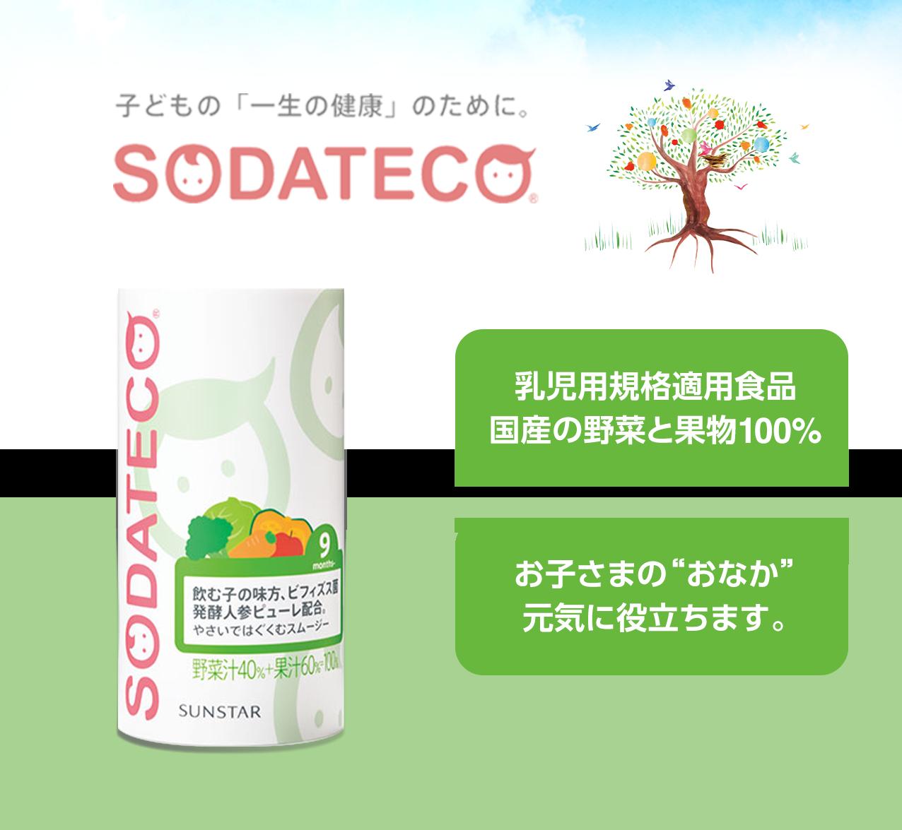 子供の一生の健康のためにSODATECO