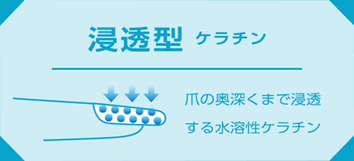 浸透型ケラチン 爪の奥深くまで浸透する水溶性ケラチン