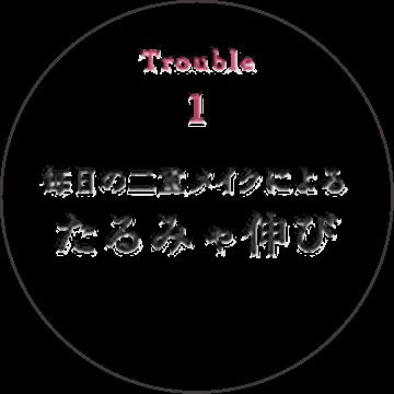 Trouble 1 毎日の二重メイクによるたるみや伸び