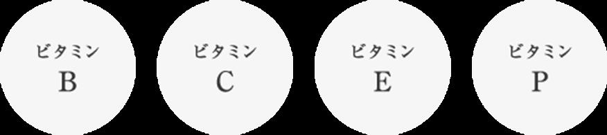 4種のビタミン イメージ
