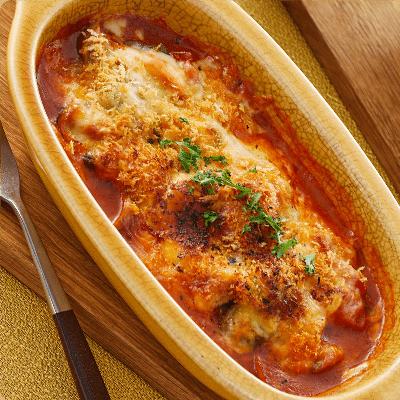 トマトクリームのチーズ焼き