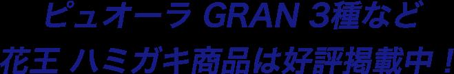ピュオーラ GRAN 3種など花王 ハミガキ商品は好評掲載中!