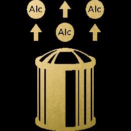 独自の「脱アルコール」製法 イメージ