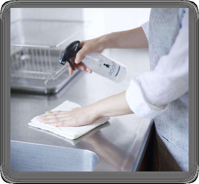 「キッチンの除菌に」イメージ