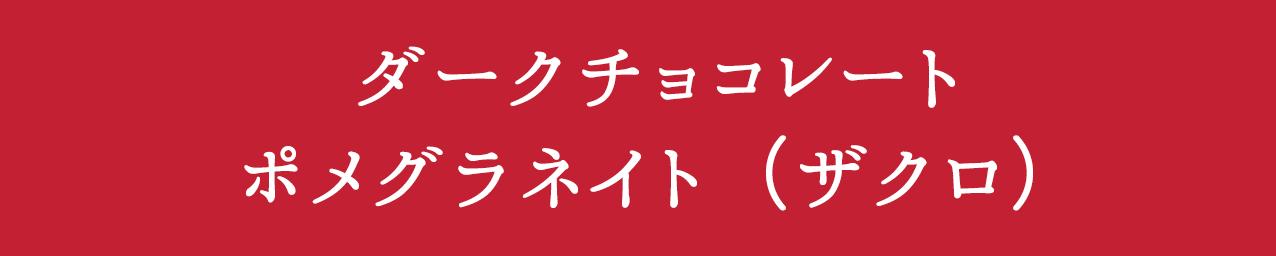 ダークチョコレート ポメグラネイト(ザクロ)