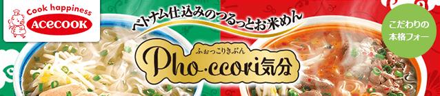 Cook happiness ACECOOK ベトナム仕込みのつるっとお米麺 ふぉっこりきぶん Pho・ccori気分