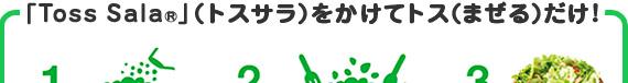 「Toss Sala®」(トスサラ)をかけてトス(まぜる)だけ!